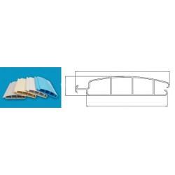 Lamelový kryt hladiny bazénu PVC 52x12mm bílá White 9010