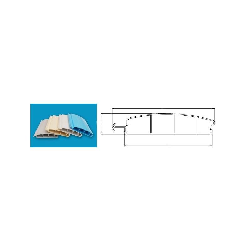 ASPAR Lamelový kryt hladiny bazénu 3,5x7,5m lamela PVC 52x12mm bílá White 9010