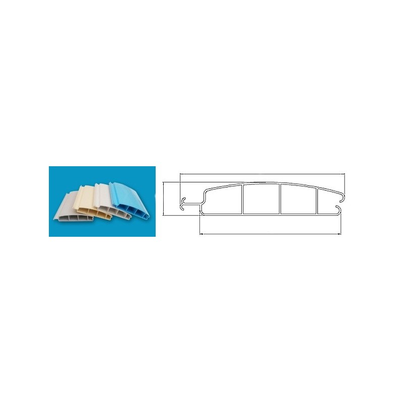 ASPAR Lamelový kryt hladiny bazénu 5x9m lamela PVC 52x12mm bílá White 9010