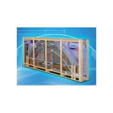 Zastřešení bazénu KLASIK A 3,6 X 6,4 x 1 m in BOX Antracit DB307