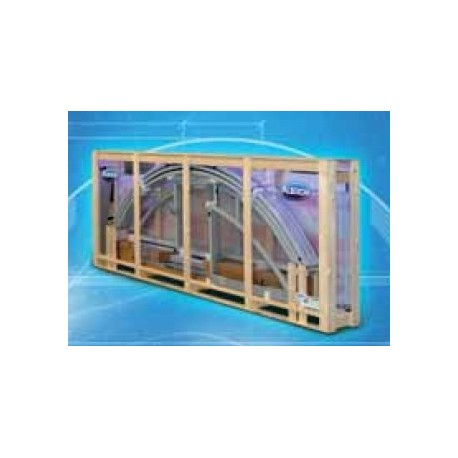 Zastřešení bazénu KLASIK B 4,7 X 8,6 x 1,3 m in BOX Silver Elox