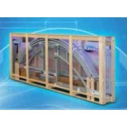 Zastřešení bazénu KLASIK Clear A 3,6 X 6,4 x 1 m in BOX Silver Elox