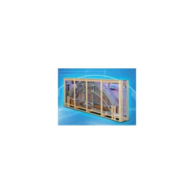 ALBIXON Zastřešení bazénu KLASIK Clear A 3,6 X 6,4 x 1 m in BOX Silver Elox