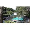 Zastřešení bazénu KLASIK A Clear 3,6 x 6,4 x 1 m Silver Elox s montáží