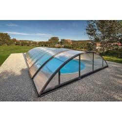 Zastřešení bazénu KLASIK C 5,7 x 10,7 x 1,5 m NOBOX Antracit DB703 s montáží