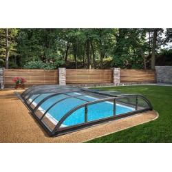 Zastřešení bazénu DALLAS CLEAR B 5,2 x 8,6 x 1 m Antracit DB703 s montáží