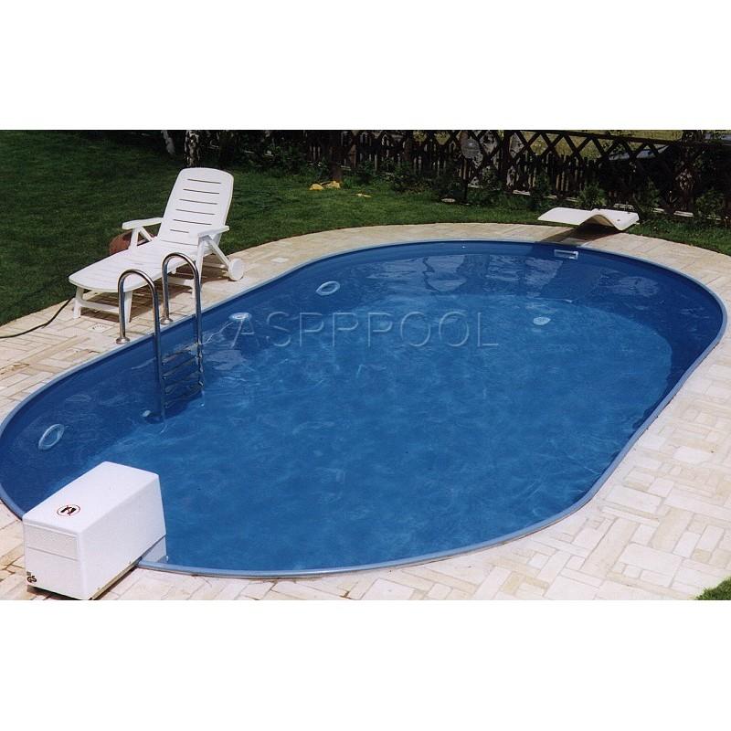 BWT Zapuštěný bazén TOSCANA SET ovál 5,25 x 3,2 x 1,2 m 0,6mm modrá