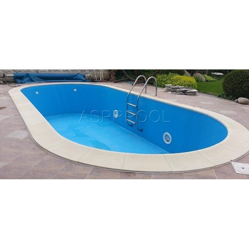 BWT Zapuštěný bazén TOSCANA ovál 11 x 5 x 1,2 m 0,6mm modrá