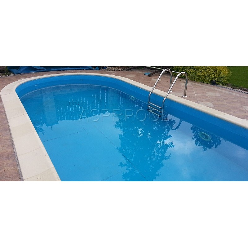 BWT Zapuštěný bazén TOSCANA ovál 8 x 4,16 x 1,5 m 0,6mm modrá