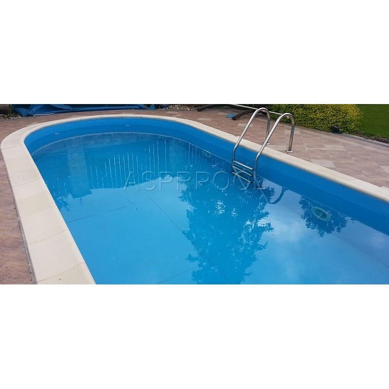 BWT Zapuštěný bazén TOSCANA ovál 11 x 5 x 1,5 m 0,6mm modrá