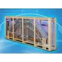 Zastřešení bazénu BOX - KLASIK A 3,6 x 6,4 x 1 m - Silver Elox