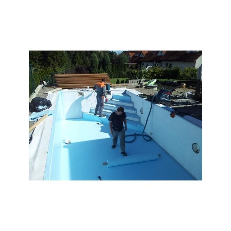 ASPR pool Fóliování bazénu 4x8x1,5m těžká modrá fólie