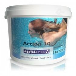 Action-10 5kg desetikombinační chlorové pomalurozpustné 200g tablety