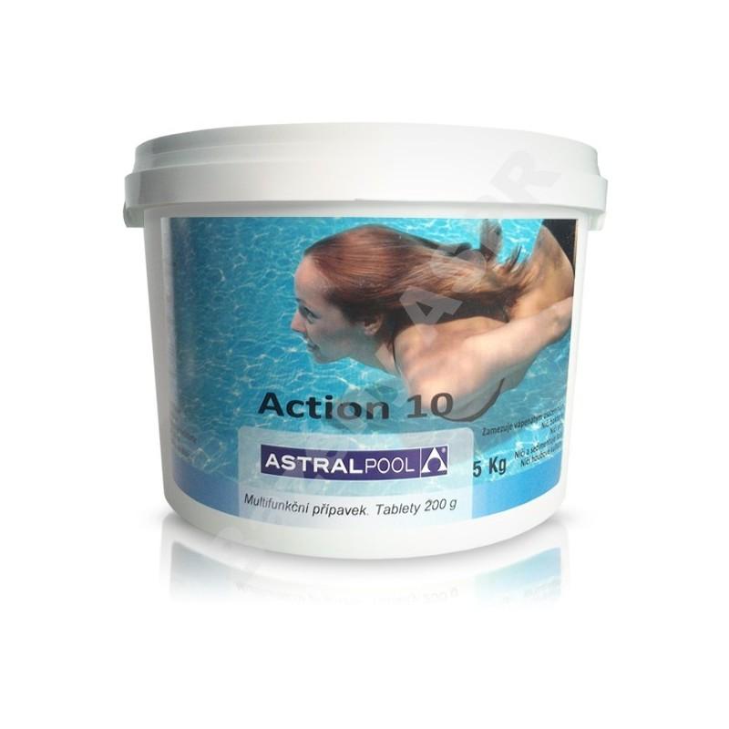 ASTRALPOOL Action-10 5kg desetikombinační chlorové pomalurozpustné 200g tablety