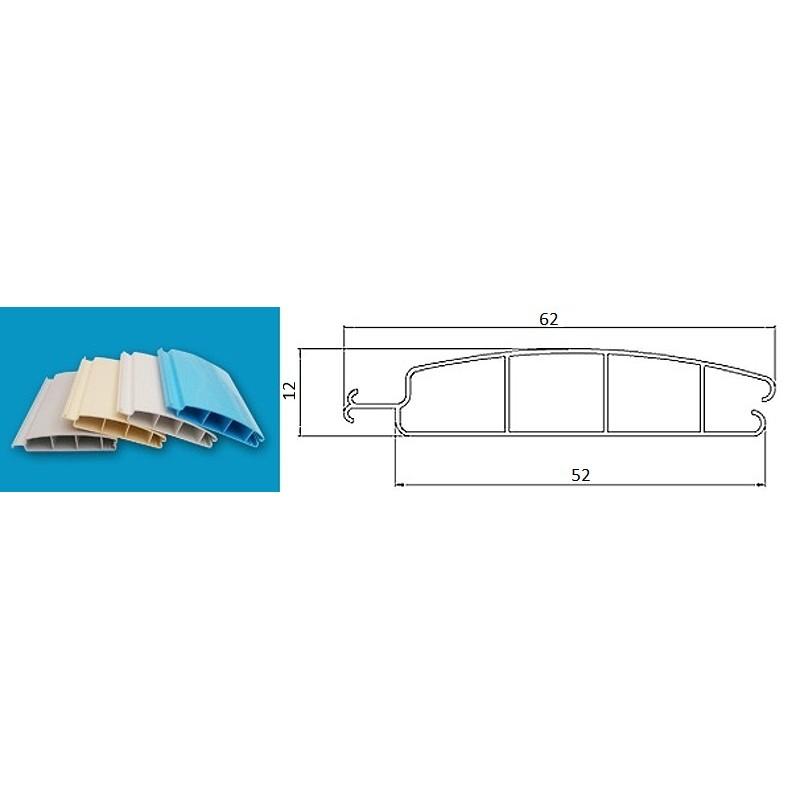 ASPAR Lamelový kryt hladiny bazénu 2x4m lamela PVC 52x12mm bílá White 9010 s montáží