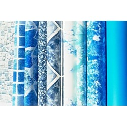 Náhradní bazénová fólie kruh 3,5x1,2m 0,6mm modrá