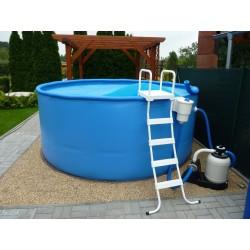 Samonosný bazén NEZMAR kruh 3,5 x 1 m