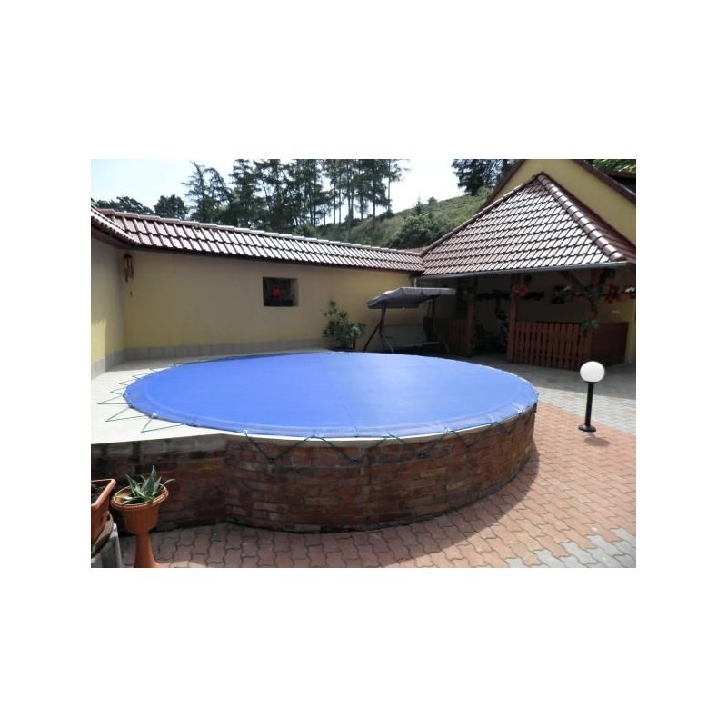 KONTIS Zimní plachta na kruhový bazén 2m modrá síťovaná