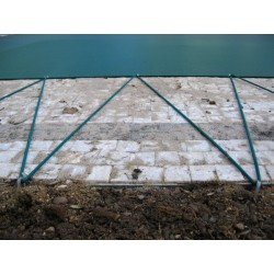 Zimní plachta na kruhový bazén 3 m zelená síťovaná