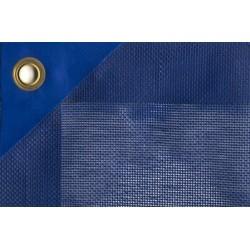 Zimní plachta na kruhový bazén 4,5m modrá síťovaná
