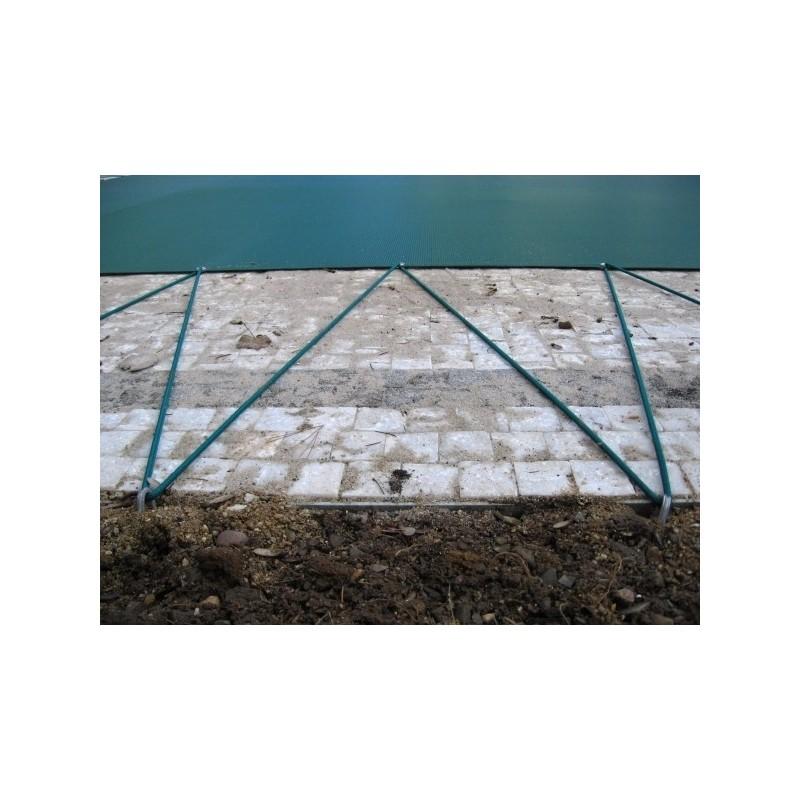 KONTIS Zimní plachta na kruhový bazén 4,5 m zelená síťovaná