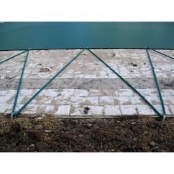 Zimní plachta na kruhový bazén 4 m zelená síťovaná