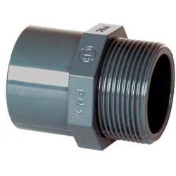 "PVC tvarovka - Přechodka 40–32 x 3/4"" ext."
