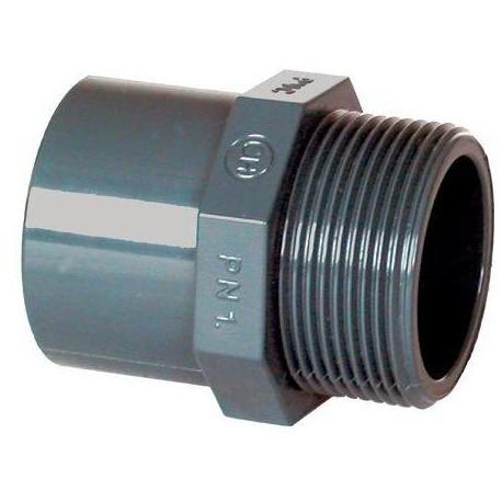 "PVC tvarovka - Přechodka 63--50 x 1 1/2"" ext."