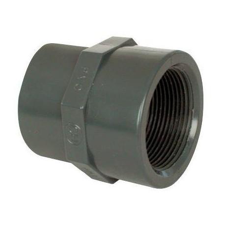 """PVC tvarovka - Mufna přechod. red. 50--40 x 1 1/2"""" int."""