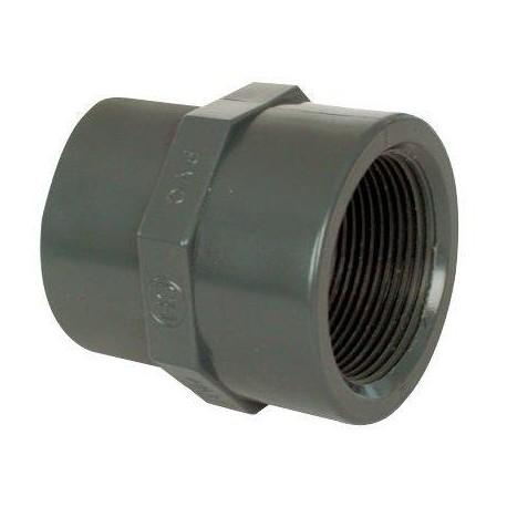 """PVC tvarovka - Mufna přechod. red. 63--50 x 2"""" int."""