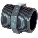 "PVC tvarovka - Dvojnipl 1 1/4"" ext."