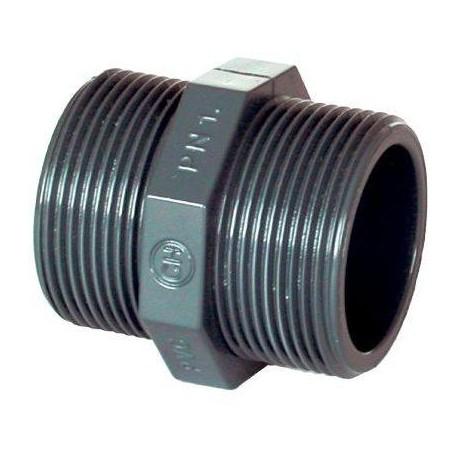 "PVC tvarovka - Dvojnipl 1 1/2"" ext."