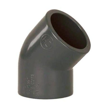 PVC tvarovka - Úhel 45° 90 mm