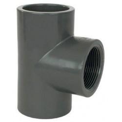 "PVC tvarovka - T-kus 90° 50 x 1/2"" int."