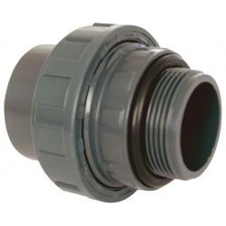 "PVC tvarovka - Šroubení 50 x 1 1/2"" ext., s o-kroužkem"