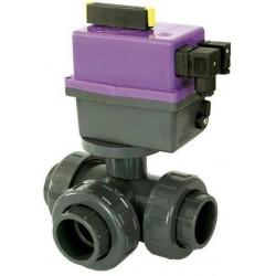 PVC Kulový el. třícestný ventil 63 mm CH-L (nové FIP-L)