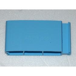 Lamelový kryt hladiny bazénu lamela PVC 52x12mm modrá Blue 5015 základ