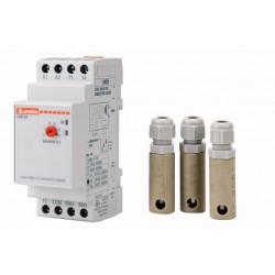 Elektronické automatické hlídání hladiny + 3x sonda (na DIN lištu)