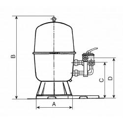 Filtrační nádoba dělená 400, 6 m3/h