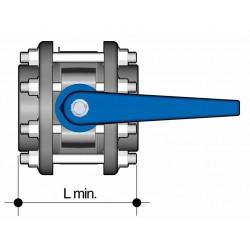 Uzavírací klapka s přírubou 63 mm