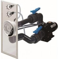 Předmontovaná sestava VAG-JET NEREZ (průchod stěnou, čelo protiproudu, ventily, fitinky)