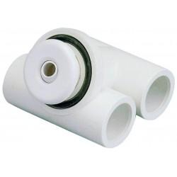 Hydromasážní tryska - Mikrotryska ABS (bílá), ⌀ otvoru 12 mm