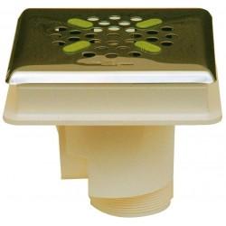 Podlahová výpust ABS, nerez kryt čtvercový AISI 316 – pro fólii