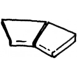 Dlažba Sahara - rohová dlaždice R 610 int., 2 ks
