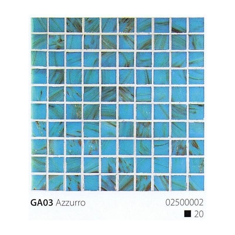 VITREX Skleněná mozaika 2x2cm GA03 Azzurro