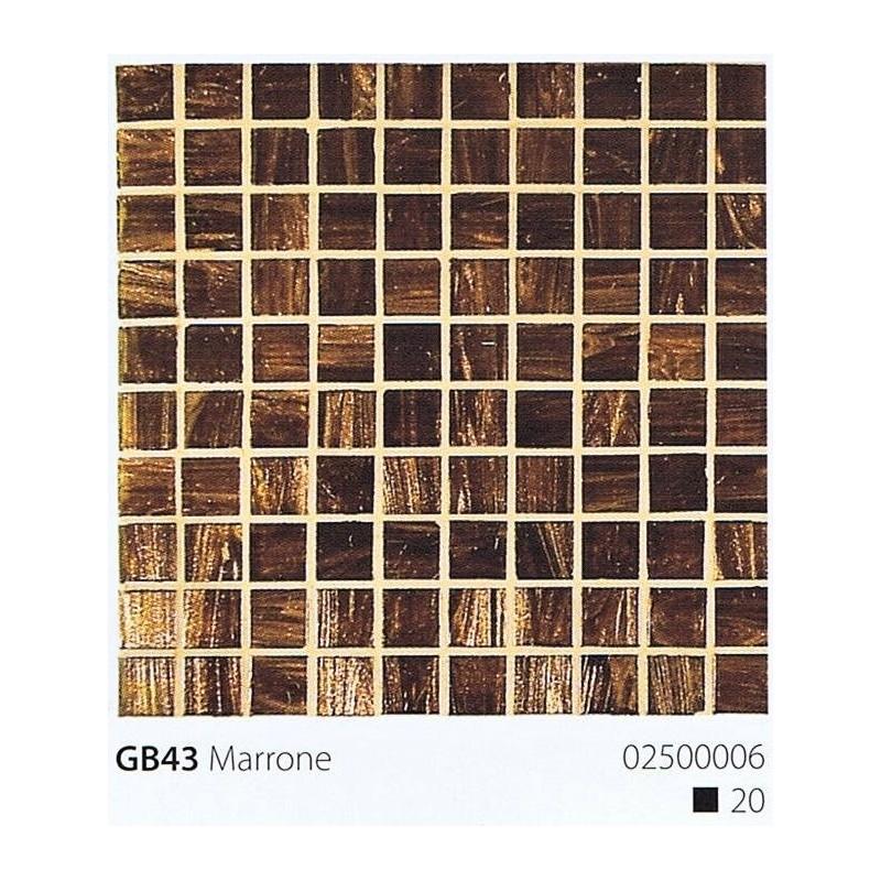 VITREX Skleněná mozaika 2x2cm GB43 Marrone
