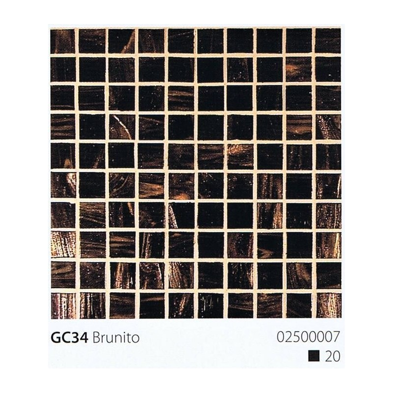 VITREX Skleněná mozaika 2x2cm GB34 Brunito