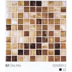 Skleněná mozaika 2x2cm G1 Oro Mix