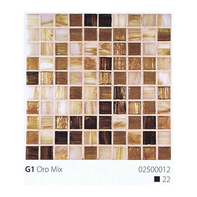 VITREX Skleněná mozaika 2x2cm G1 Oro Mix