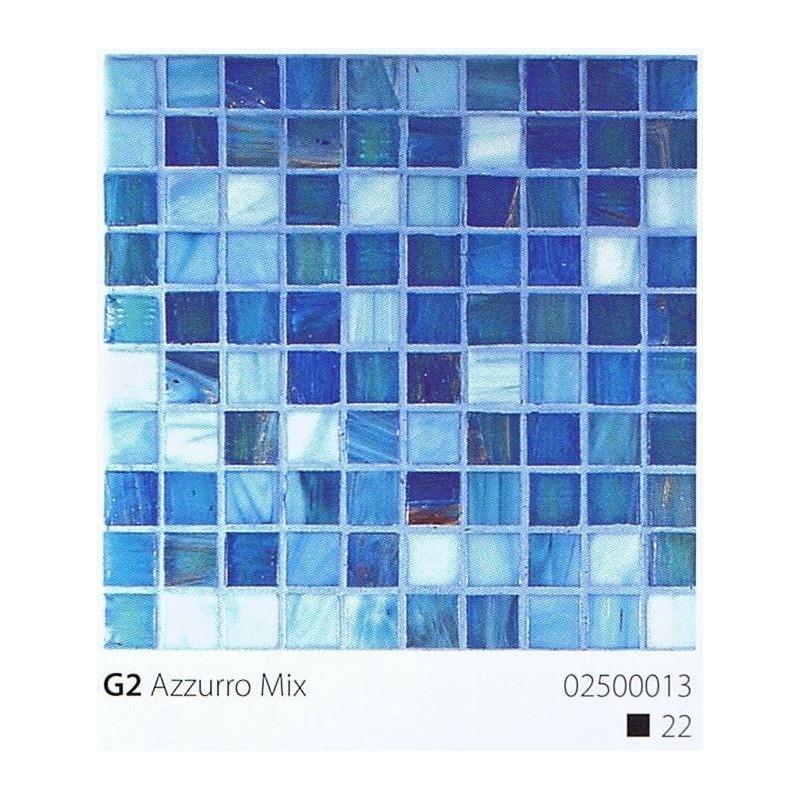 VITREX Skleněná mozaika 2x2cm G2 Azzurro Mix